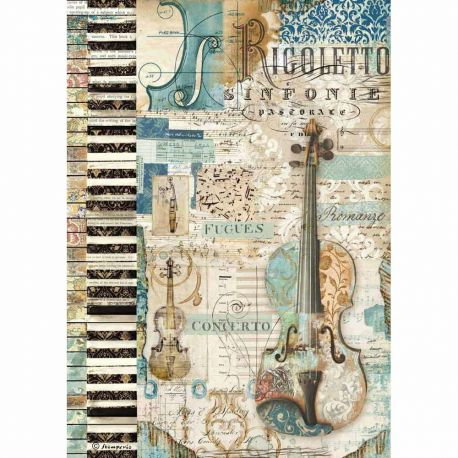 Papel de arroz DinA4  Music Violin