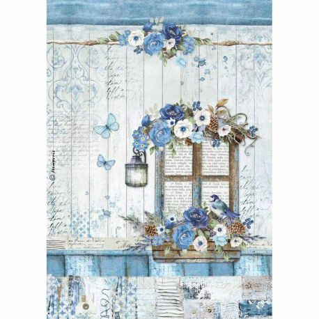 Papel de arroz DinA4 Blue Land Window