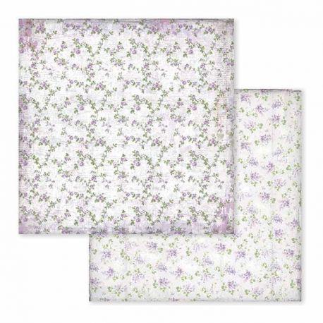 Papel de Scrap Stamperia Provence texture flowers