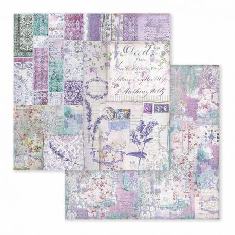 Papel de Scrap Stamperia Provence patchwork