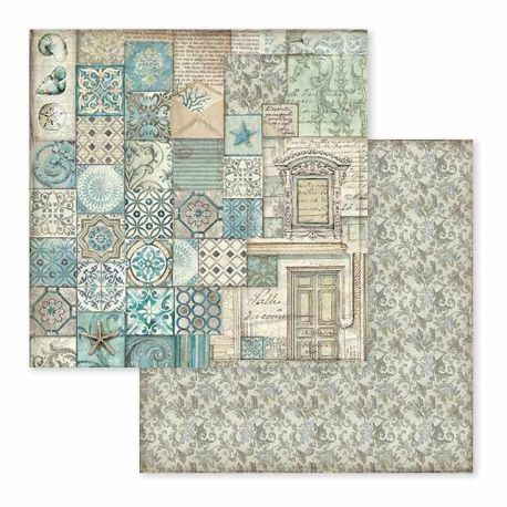 Papel de Scrap Stamperia Azulejo Patchwork