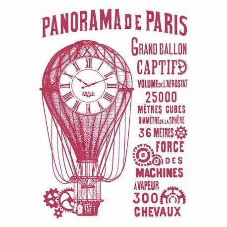 "Stencil 21x29.7cm ""Panorama de Paris"" de Stamperia"