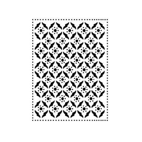 Stencil Cadence fondo geometrico puntitos