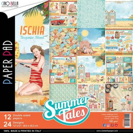 Set 12 papeles Ciao Bella Summer Tales