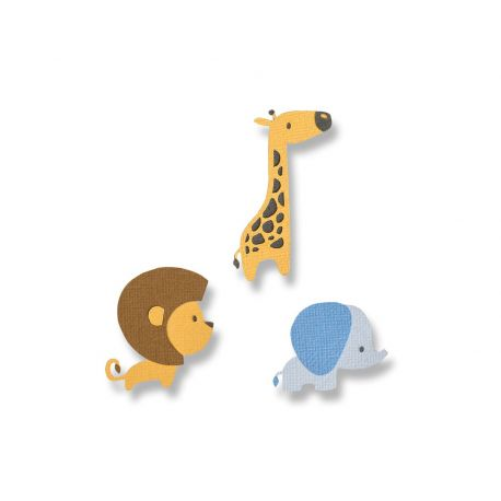 Set 9 troqueles THINLITS Baby Jungle animals by Jordan Caderao