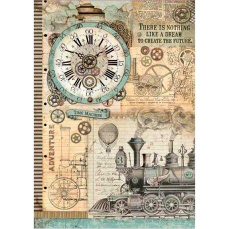 Papel de arroz DinA3 Voyages Fantastiques Clock