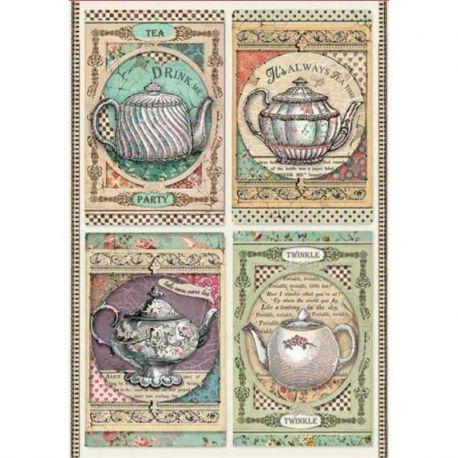 Papel de arroz DinA4 Tea Time