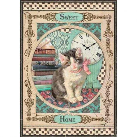 Papel de arroz DinA4 Sweet Home Cat