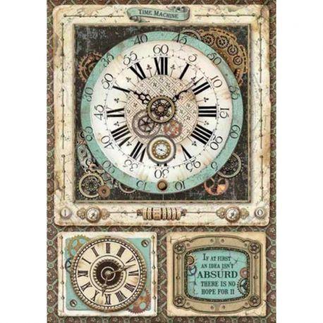 Papel de arroz DinA4 Voyages Fantastiques Clock