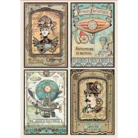 Papel de arroz DinA4 Voyages Fantastiques Cards