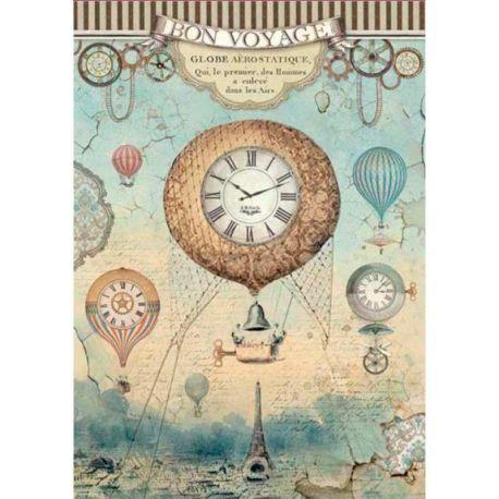 Papel de arroz DinA4 Voyages Fantastiques Balloon