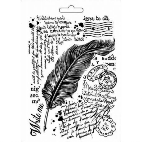 """Molde para Mix Media A5 """"Feather"""" Stamperia"""