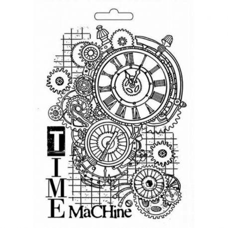 """Molde para Mix Media A5 """"Time Machine"""" Stamperia"""