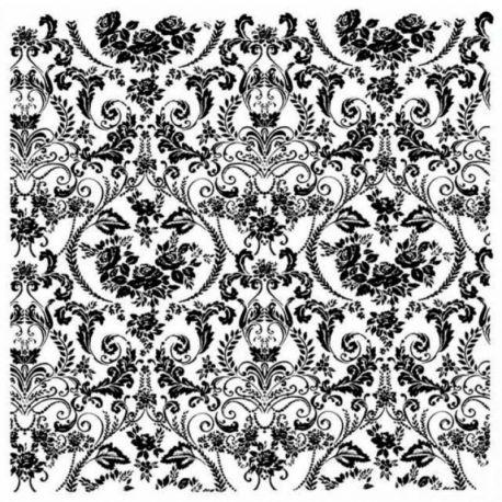 """Sello de alta definición """"Wallpaper"""" de Stamperia 10x10cm"""