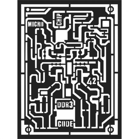 Stencil Stamperia 15x20cm y 0.5mm by Antonis Tzanidakis - Microchip