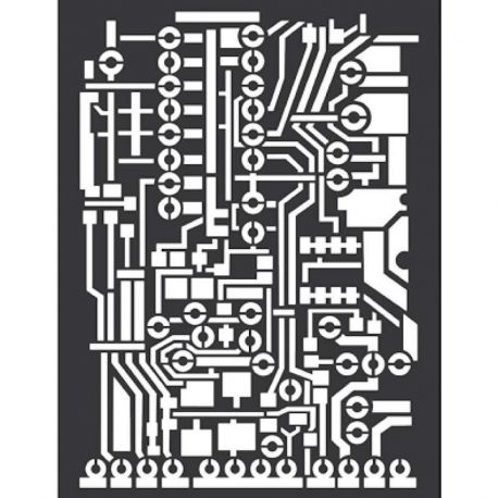 Stencil Stamperia 15x20cm y 0.5mm by Antonis Tzanidakis - Circuit Board
