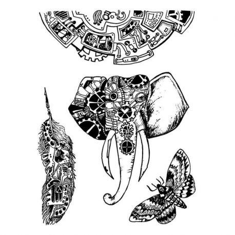 """Sello de alta definición Stamperia 15x20cm by Antonis Tzanidakis """"Mechanical Animals"""""""