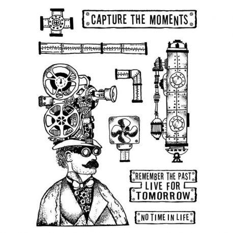 "Sello de alta definición Stamperia 15x20cm by Antonis Tzanidakis ""Capture the Moment"""