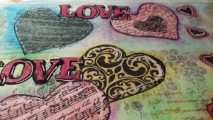 ART JOURNAL LOVE PASO A PASO