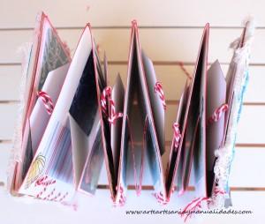 album de verano desplegable scrapbooking y gealatos 2'www.arteartesaniaymanualidades.com'