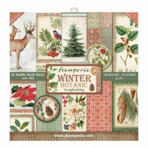 bloc-10-hojas-de-papel-scrap-stamperia-winter-botanic